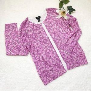 Lane Bryant Light Cardigan Sweater Purple F24